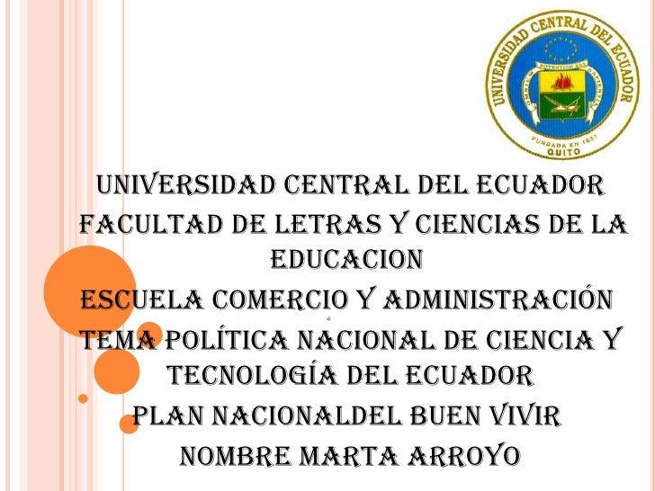 UNIVERSIDAD CENTRAL DEL ECUADORFACULTAD DE LETRAS Y CIENCIAS DE LA            EDUCACIONESCUELA COMERCIO Y ADMINISTRACIÓNTE...