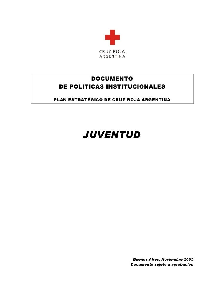 Politica nacional de juventud   cruz roja argentina
