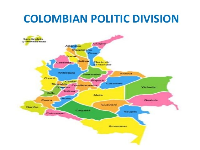 Politic and administrative division of colombia 4th