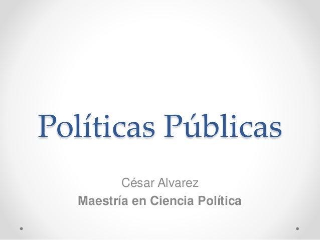 Políticas Públicas César Alvarez Maestría en Ciencia Política