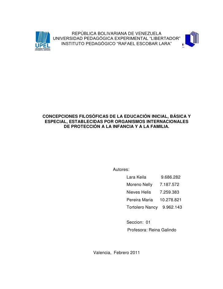 "REPÚBLICA BOLIVARIANA DE VENEZUELA    UNIVERSIDAD PEDAGÓGICA EXPERIMENTAL ""LIBERTADOR""       INSTITUTO PEDAGÓGICO ""RAFAEL ..."