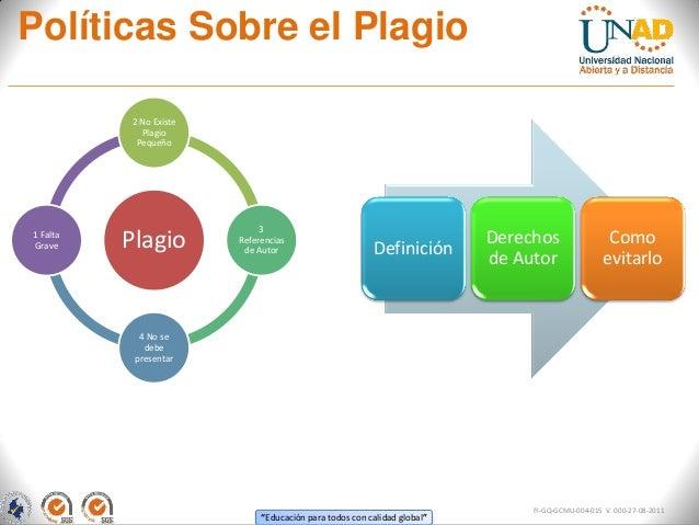 Política sobre el plagio UNAD Slide 2