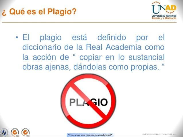 Política sobre el plagio UNAD Slide 3