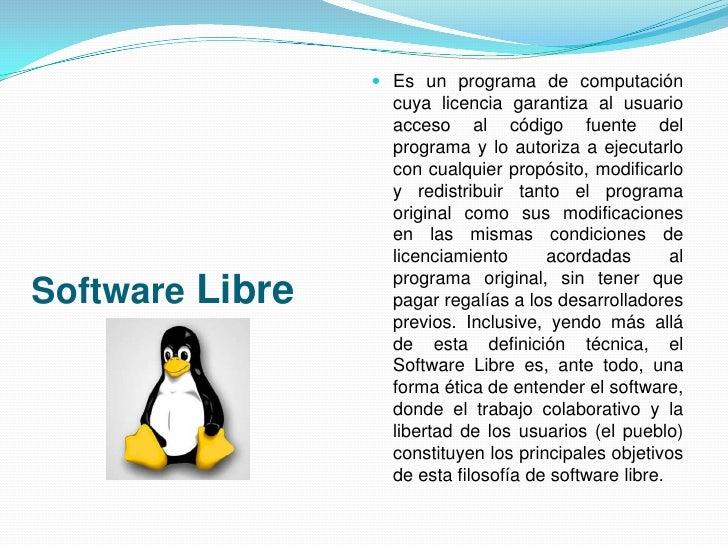 Politicas para el uso y desarrollo de software libre Slide 2
