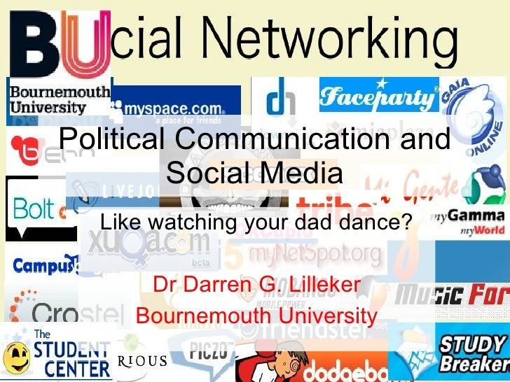 Political Communication and Social Media Like watching your dad dance? Dr Darren G. Lilleker Bournemouth University