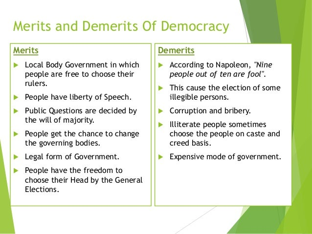 Merits and demerits of dictatorship