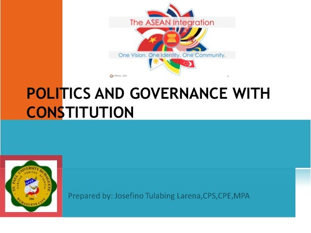 POLITICS AND GOVERNANCE WITH CONSTITUTION