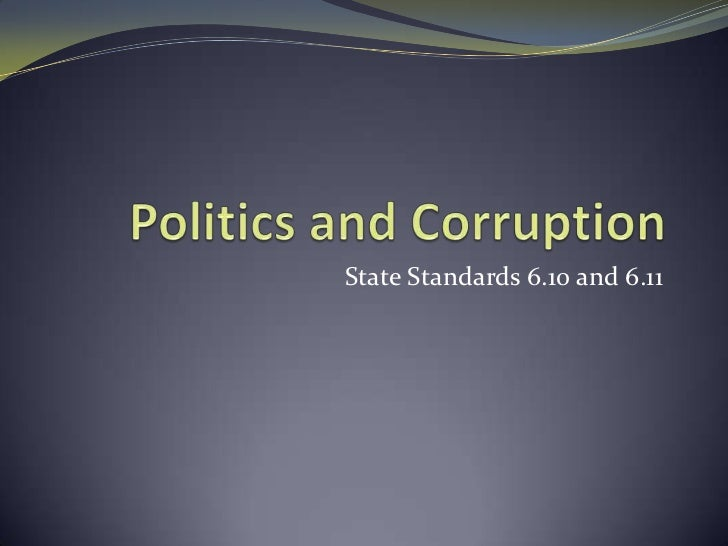 State Standards 6.10 and 6.11