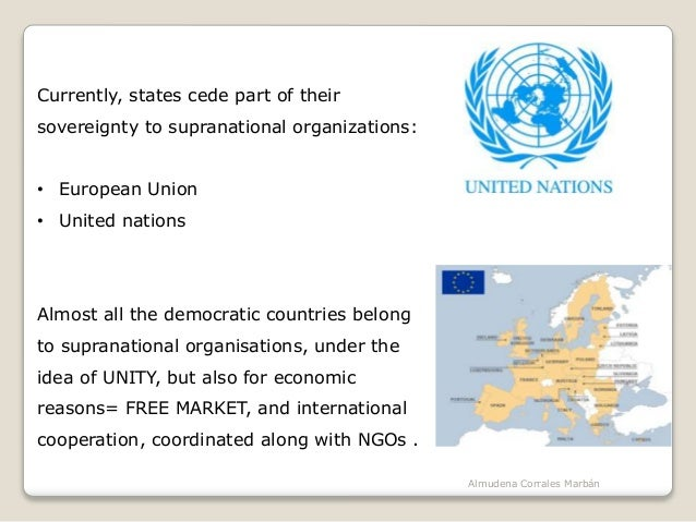 The political organisation of the world Slide 3