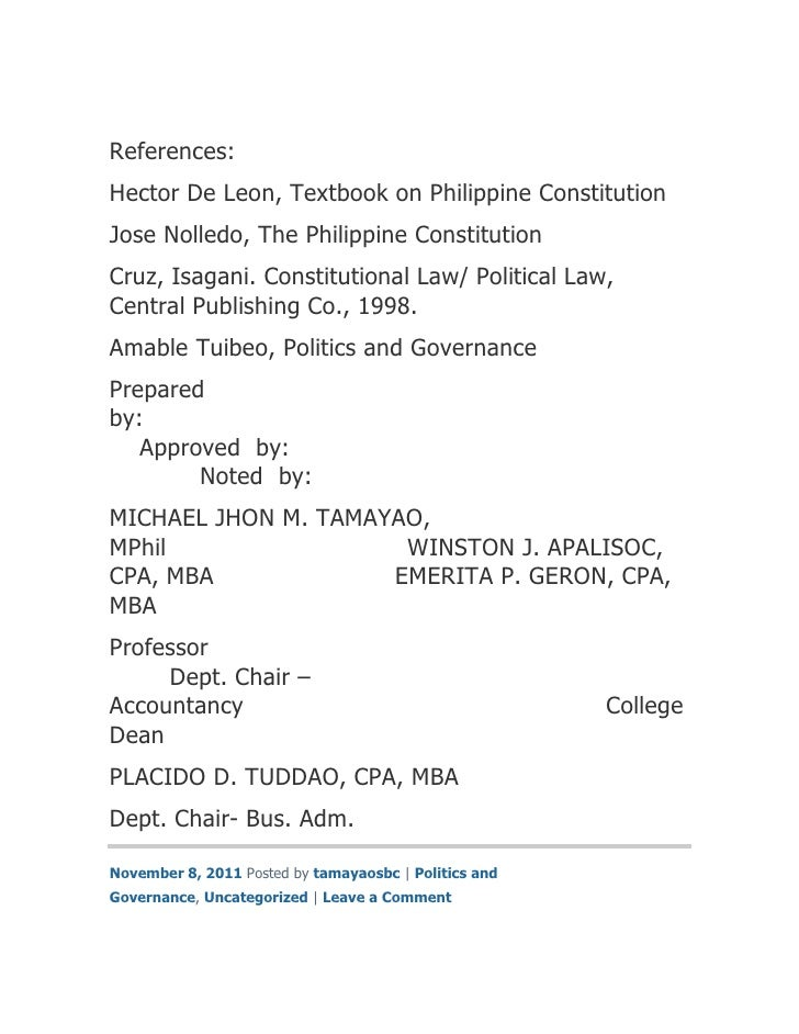 The Philippine Constitution By Hector De Leon Pdf
