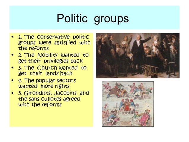 Politic groups• 1. The conservative politic  groups were satisfied with  the reforms• 2. The Nobility wanted to  get their...