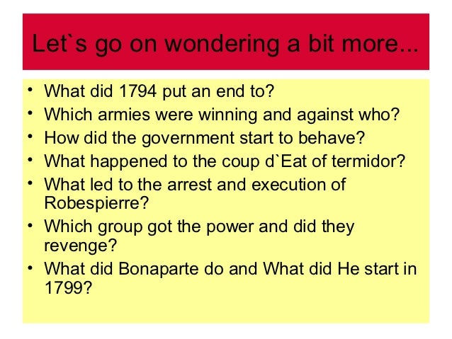 What was the coup d'etat that occurred during the French Revolution?