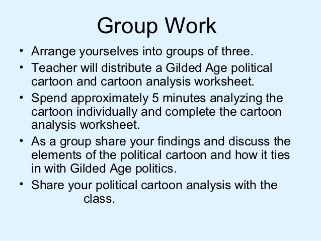 Politics in the gilded age 1 – Cartoon Analysis Worksheet