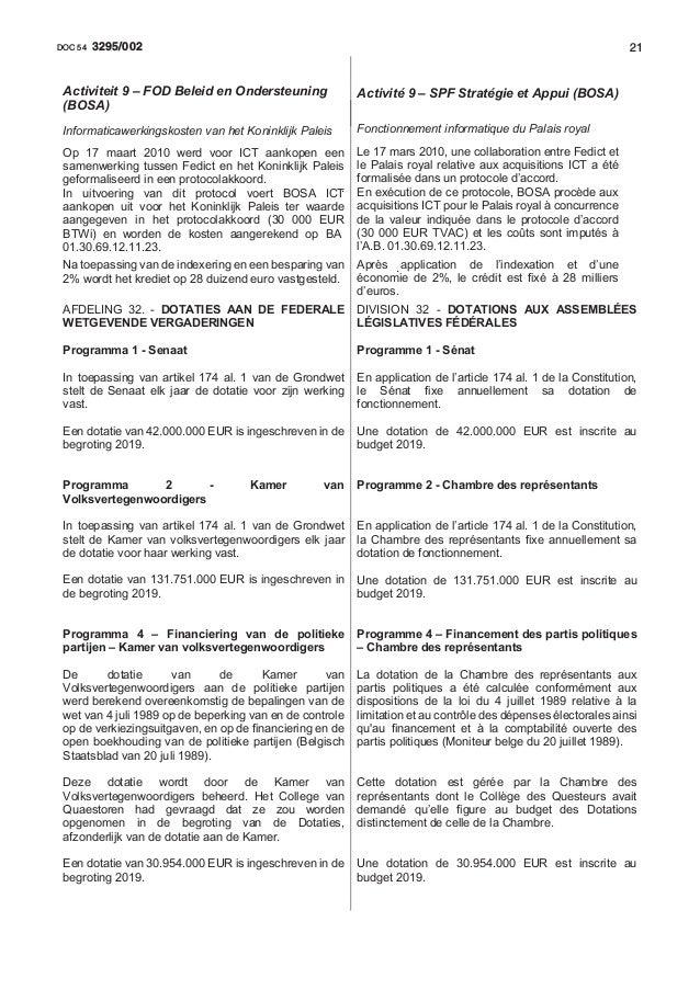 213295/002DOC 54 Op 17 maart 2010 werd voor ICT aankopen een samenwerking tussen Fedict en het Koninklijk Paleis geformali...