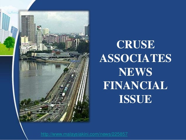 CRUSE                          ASSOCIATES                             NEWS                          FINANCIAL             ...