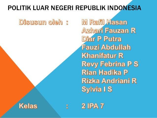 Citaten Politiek Luar : Politik luar negeri republik indonesia