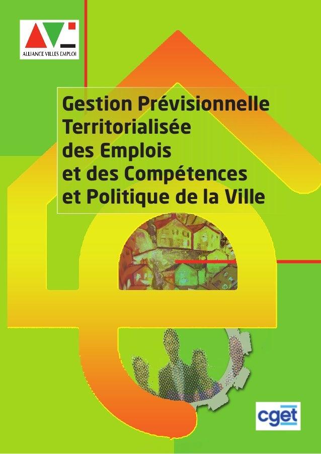 Gestion Prévisionnelle Territorialisée des Emplois et des Compétences et Politique de la Ville