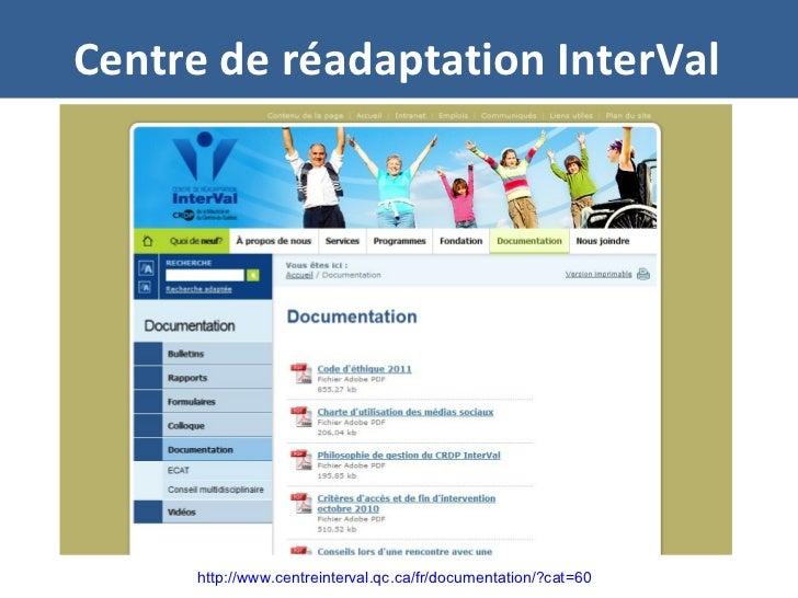 Centre de réadaptation InterVal http://www.centreinterval.qc.ca/fr/documentation/?cat=60