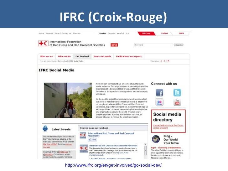IFRC (Croix-Rouge) http://www.ifrc.org/en/get-involved/go-social-dev/