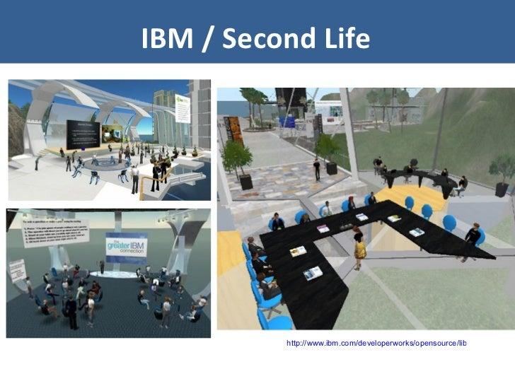 IBM / Second Life http://www.ibm.com/developerworks/opensource/library/os-social-secondlife/index.html