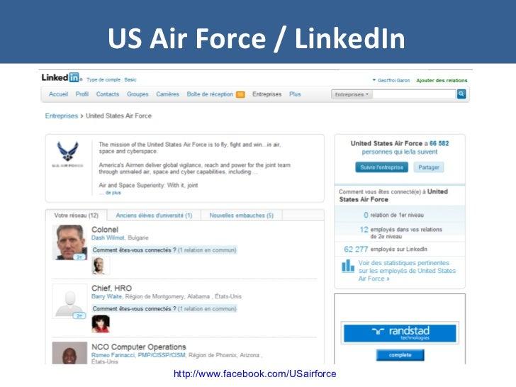 US Air Force / LinkedIn http://www.facebook.com/USairforce