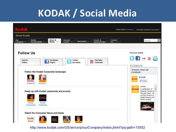 KODAK / Social Media http://www.kodak.com/US/en/corp/ourCompany/index.jhtml?pq-path=13552