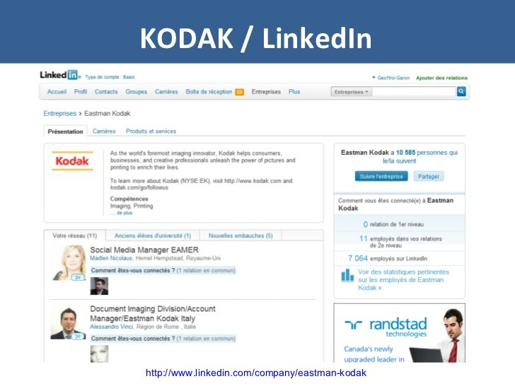 KODAK / LinkedIn http://www.linkedin.com/company/eastman-kodak