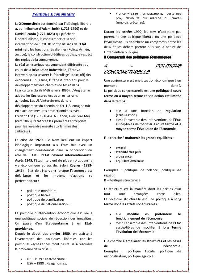 France – 1986 : privatisations, liberté des prix, flexibilité du marche du travail (emplois précaires).  Politique Économi...