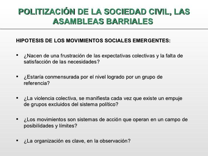 Politización de la sociedad civil Slide 3