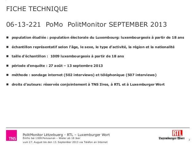 Polit monitor lëtzebuerg_-_rtl_luxemburger_wort_september_2013_volet_1_politkäpp_-_vertrauen_an_d'parteien Slide 2