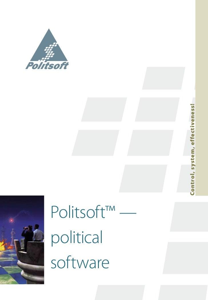 political software Politsoft™ —                Control, system, effectiveness!