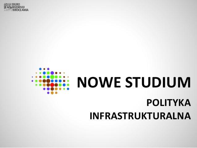 NOWE STUDIUM POLITYKA INFRASTRUKTURALNA
