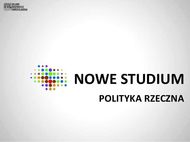 NOWE STUDIUM POLITYKA RZECZNA