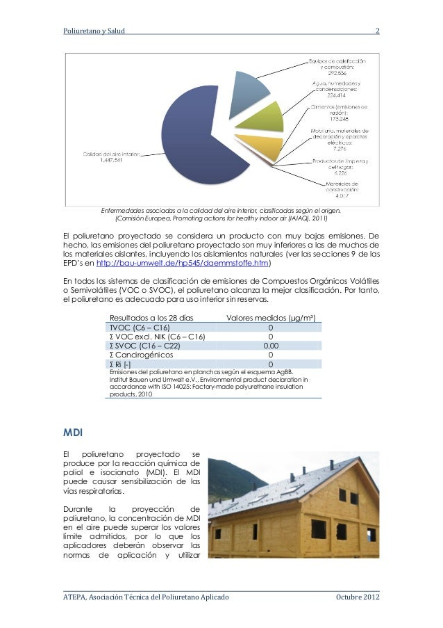 Poliuretano aplicado - Informe salubridad Slide 2