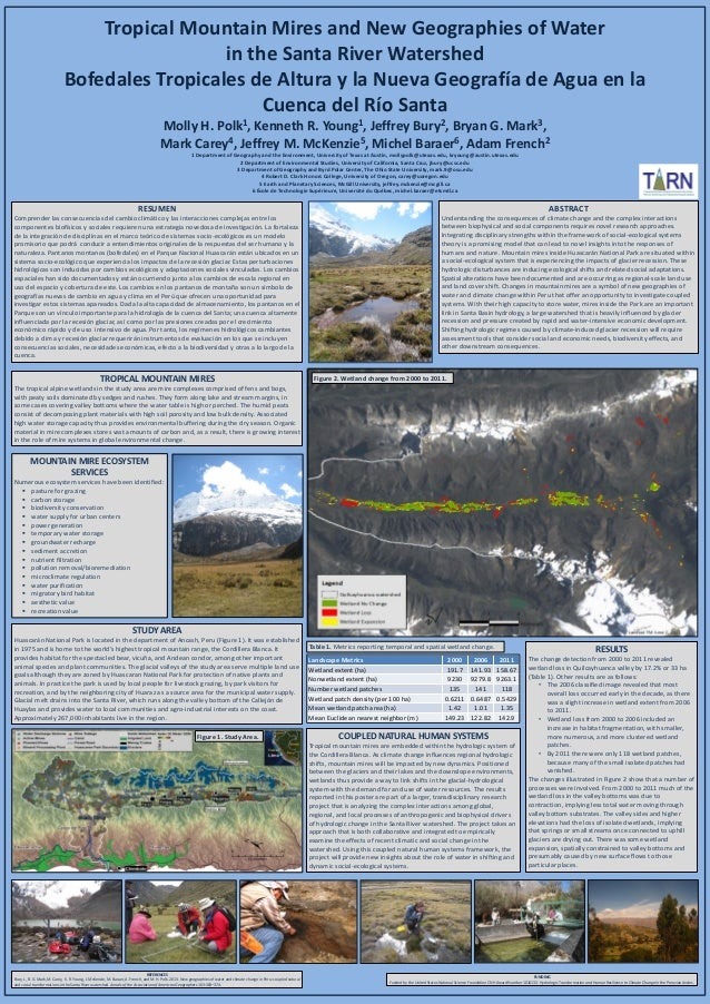 Tropical Mountain Mires and New Geographies of Water in the Santa River Watershed Bofedales Tropicales de Altura y la Nuev...