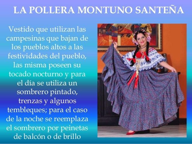 4dd9828c8d LA POLLERA MONTUNO SANTEÑA Vestido que utilizan las campesinas que bajan de  los pueblos altos a ...