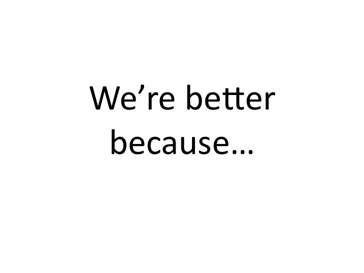 We're