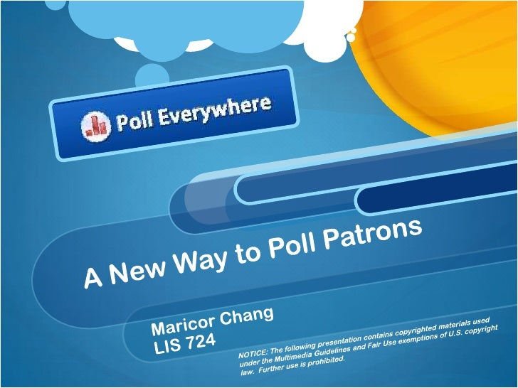 """What Is Poll Everywhere?""""On the surface, Poll Everywhere is a simple text messagevoting application that works well for li..."""