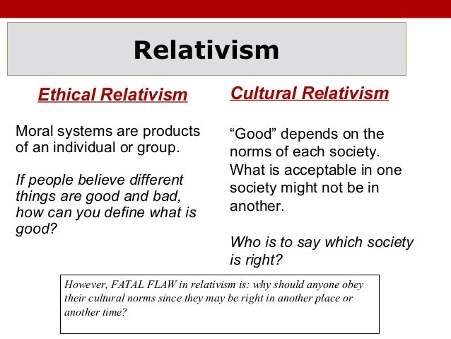 moral relativism vs absolutism a man Denial of moral absolutism leads not to relativism, but to nihilism  but on what  the person (or his community) takes to be the right thing to do,.
