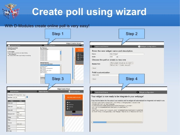 Create Free Online Poll Widget
