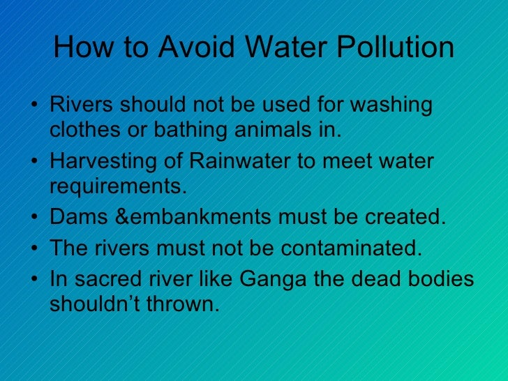 effect of water pollution essay