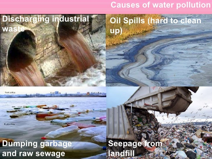 cause water pollution essay Water bodies eg lake, river, ocean and ground water get contaminated due to  discharge of pollutants in the water bodies without any treatment.