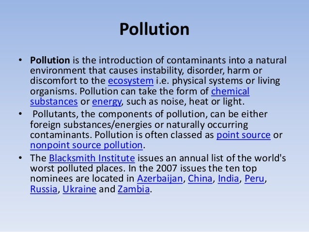 Pollution important Slide 3