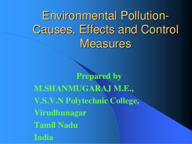 Essay on environmental pollution and its control