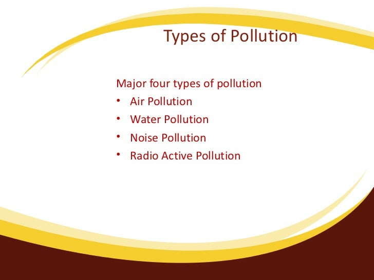 4 major types of pollution