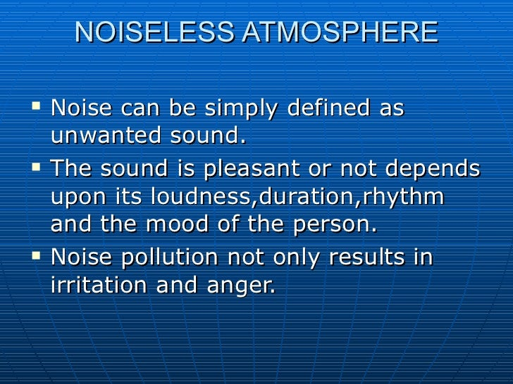Cause and effect of noise pollution essay