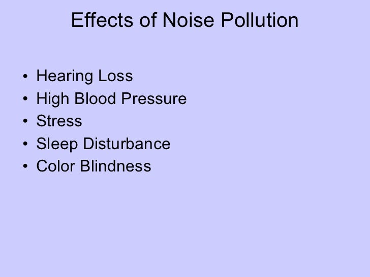 Noise pollution presentation pdf