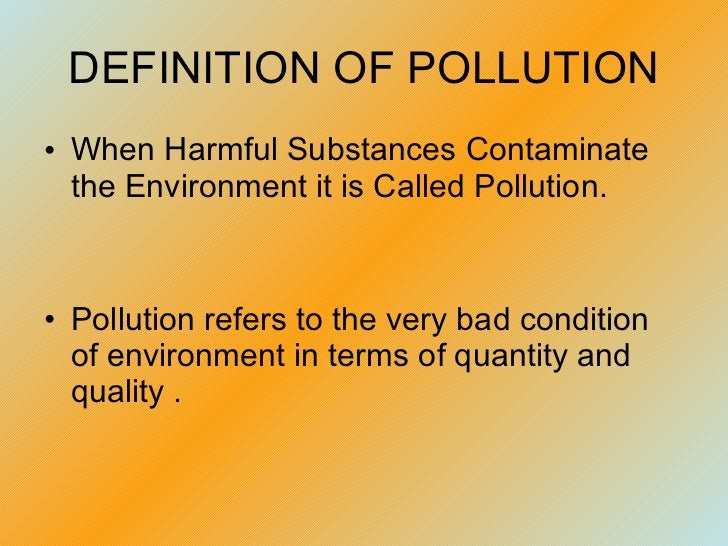 Pollutionppt  Types Of Pollution