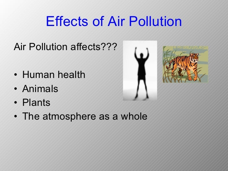 pollution ppt  atmosphere as a whole 8