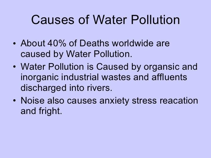 pollution ppt   12 causes of water pollution